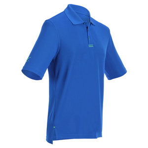 Men`s Tennis Polo Royal Blue and Lime Green