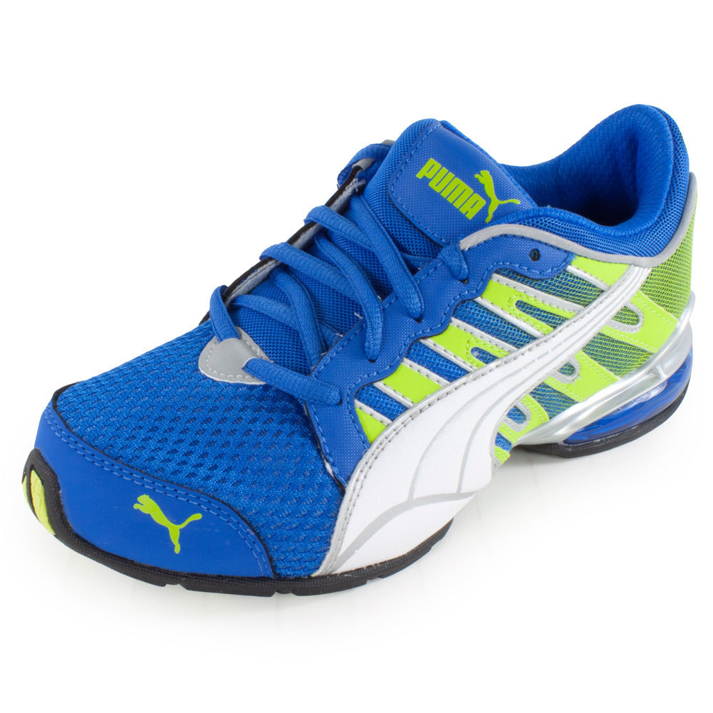 Junior's Voltaic 3 Fade Running Shoe Princess Blue And Lime Punch