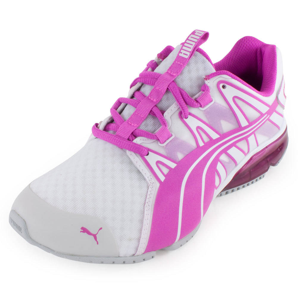 Women`s PowerTech Voltaic Clear Running Shoe White and Fluo Magenta