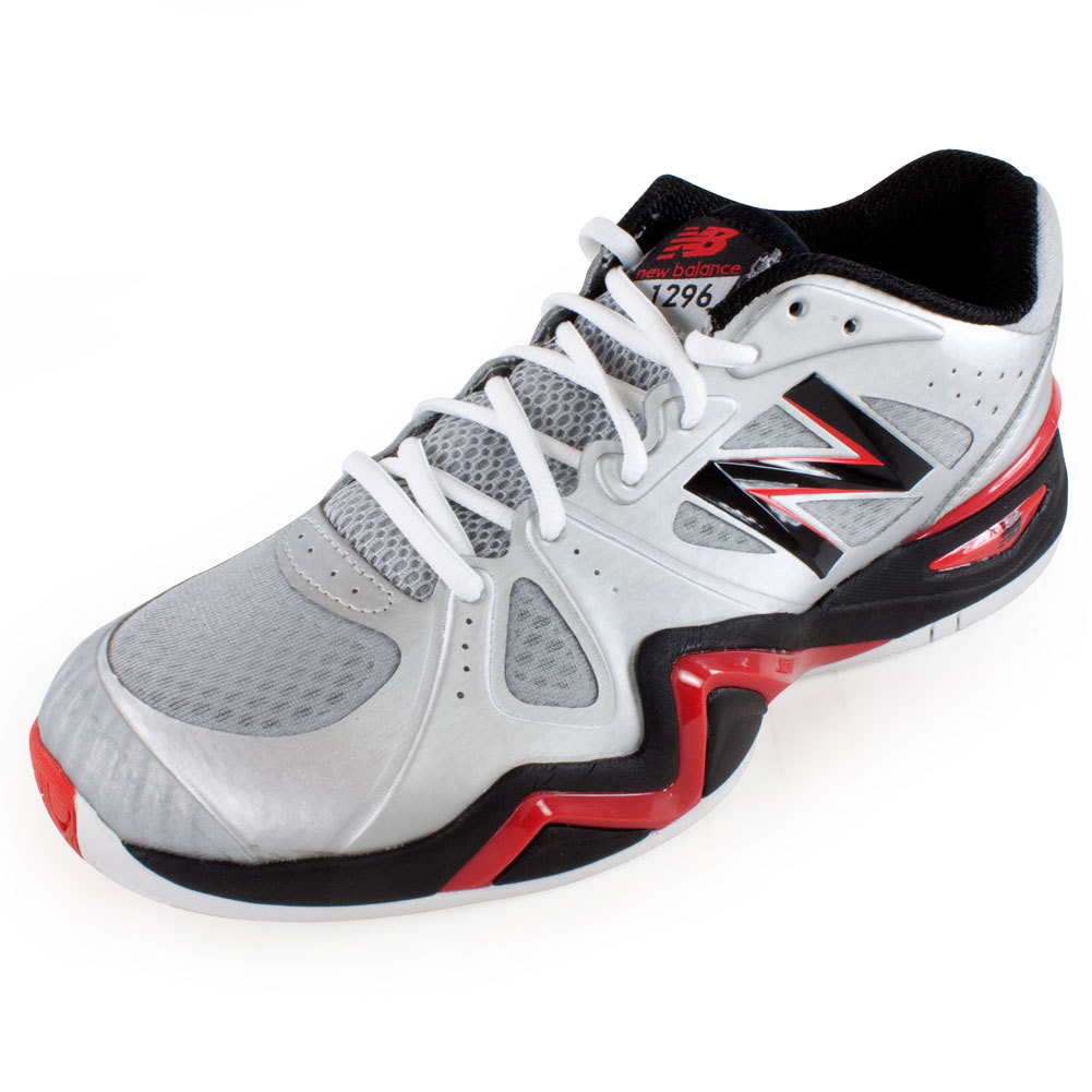 9b7b911ced658 Men`s 1296 2E Width Tennis Shoes Silver and Red. The New Balance ...