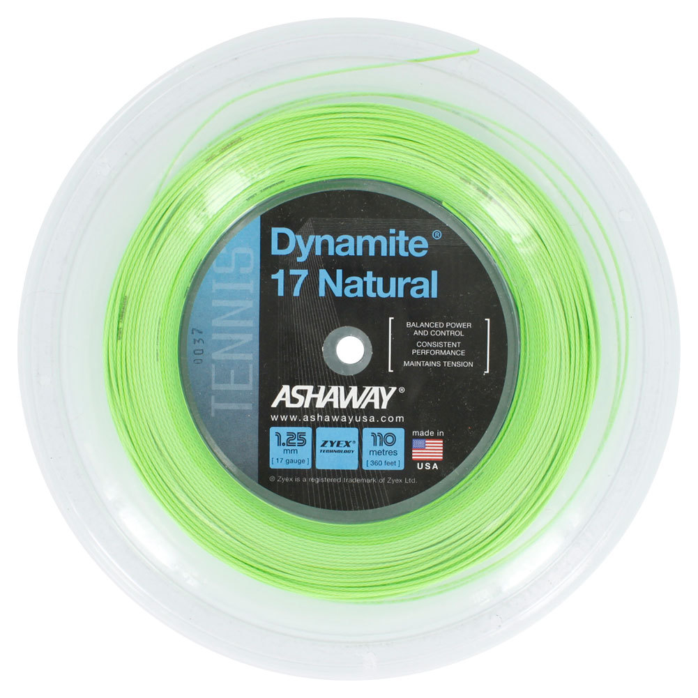 Dynamite 17 Natural Reel Tennis String Optic Green