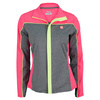 FILA Women`s Baseline Tennis Jacket Heather Gray and Diva Pink
