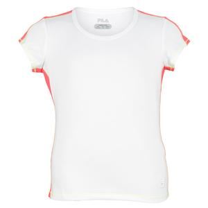 Girls` Baseline Short Sleeve Tennis Top