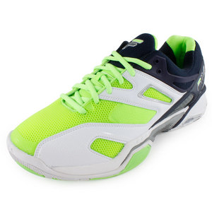 Men`s Sentinel Tennis Shoes White and Green Gecko