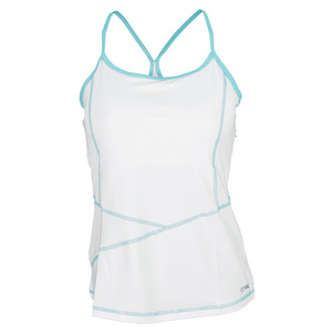 SOFIBELLA WOMENS ATHLETIC CAMI TENNIS TOP WHITE