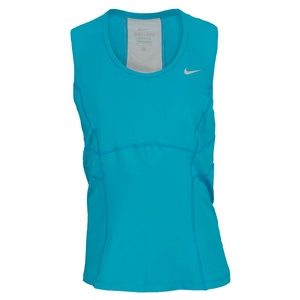 NIKE WOMENS POWER TENNIS TANK TURBO GREEN