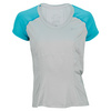 NIKE Women`s Power Short Sleeve Tennis Top Base Gray