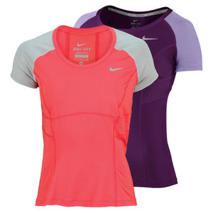 NIKE WOMENS POWER SHORT SLEEVE TENNIS TOP