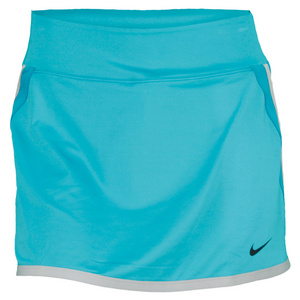 NIKE WOMENS VICTY PWR 13IN TNS SKIRT TURB GRN