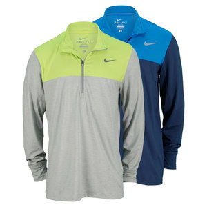 NIKE MENS HALF ZIP LONG SLEEVE TENNIS TOP