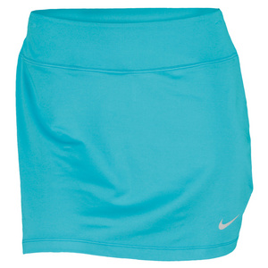 NIKE WOMENS STRT KNIT 14 IN TNS SKIRT TURB GN