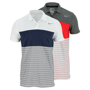 NIKE MENS DRI-FIT TOUCH STRIPE TENNIS POLO