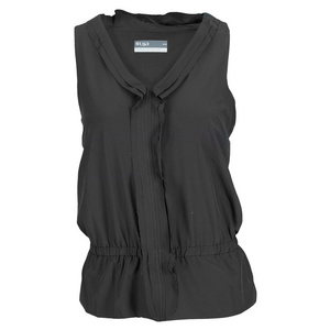 LIJA WOMENS RUFFLE TENNIS TANK BLACK