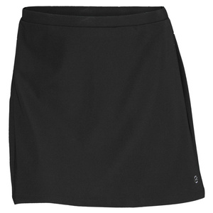 ELIZA AUDLEY WOMENS BASIC A LINE TENNIS SKORT BLACK