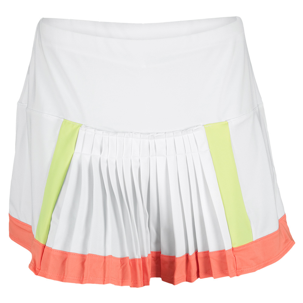 Lucky In Love Women`s Color Block Pleat Tennis Skirt White at Sears.com
