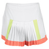 LUCKY IN LOVE Women`s Color Block Pleat Tennis Skirt White