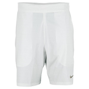 NIKE MENS GLADTR PRMR 9 IN TNS SHORT WHITE