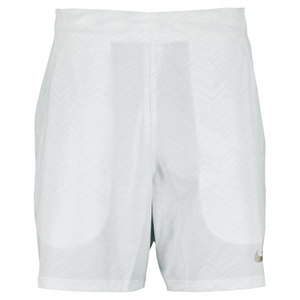 NIKE MENS GLADTR PREMR 7IN TNS SHORT WHITE