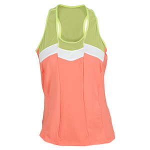 LUCKY IN LOVE WOMENS COLOR BLOCK TENNIS RACERBACK ORG