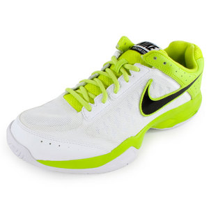NIKE MENS AIR CAGE COURT TNS SHOES WH/VEN GN