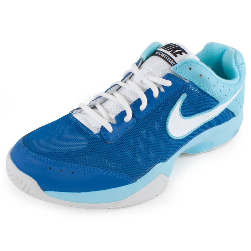 s air cage court tennis shoes blue and
