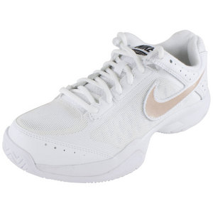 Women`s Air Cage Court Tennis Shoes White and Dark Base Gray