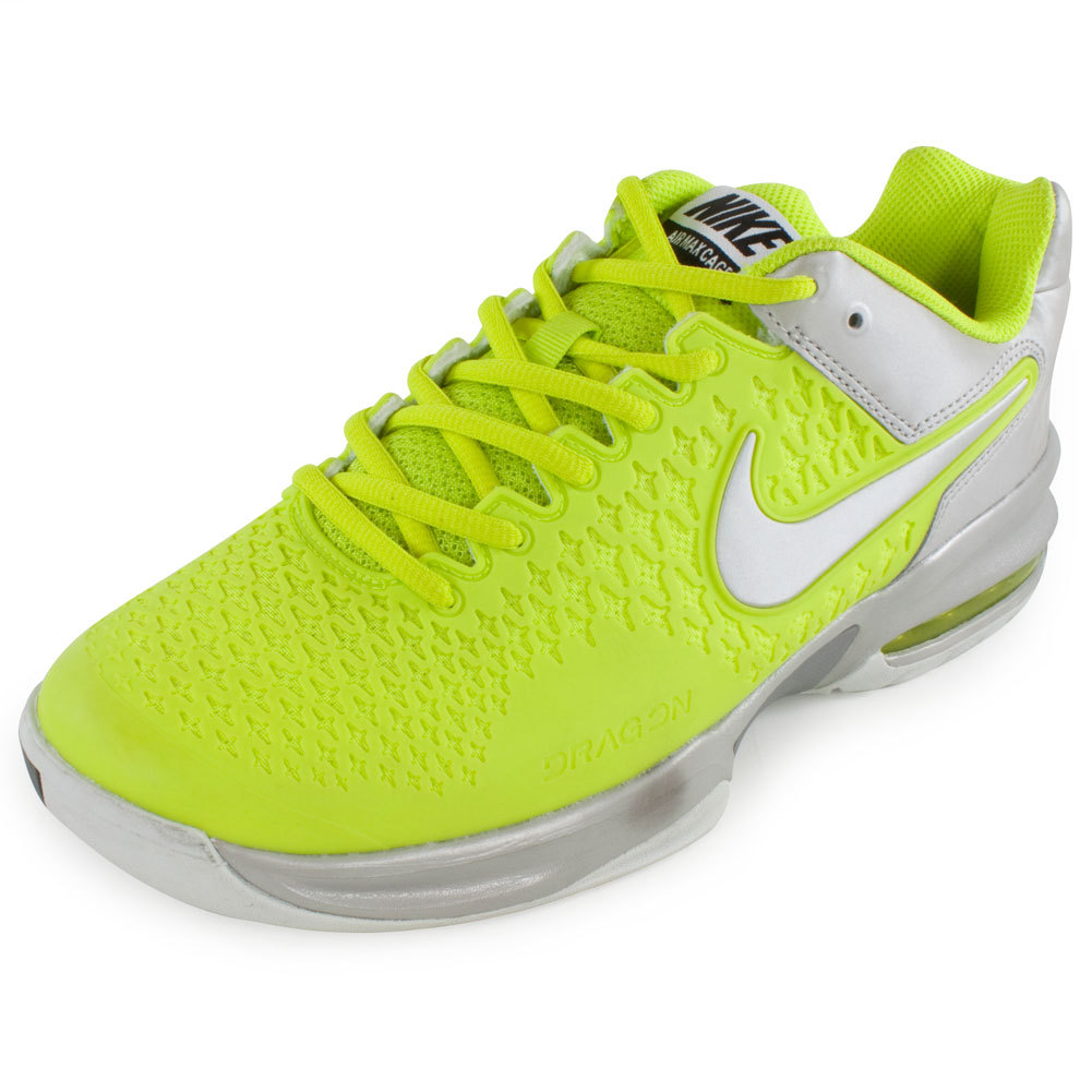 nike s air max cage tennis shoes venom green and