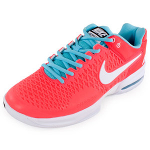 Men`s Air Max Cage Tennis Shoe Laser Crimson and Polarized Blue