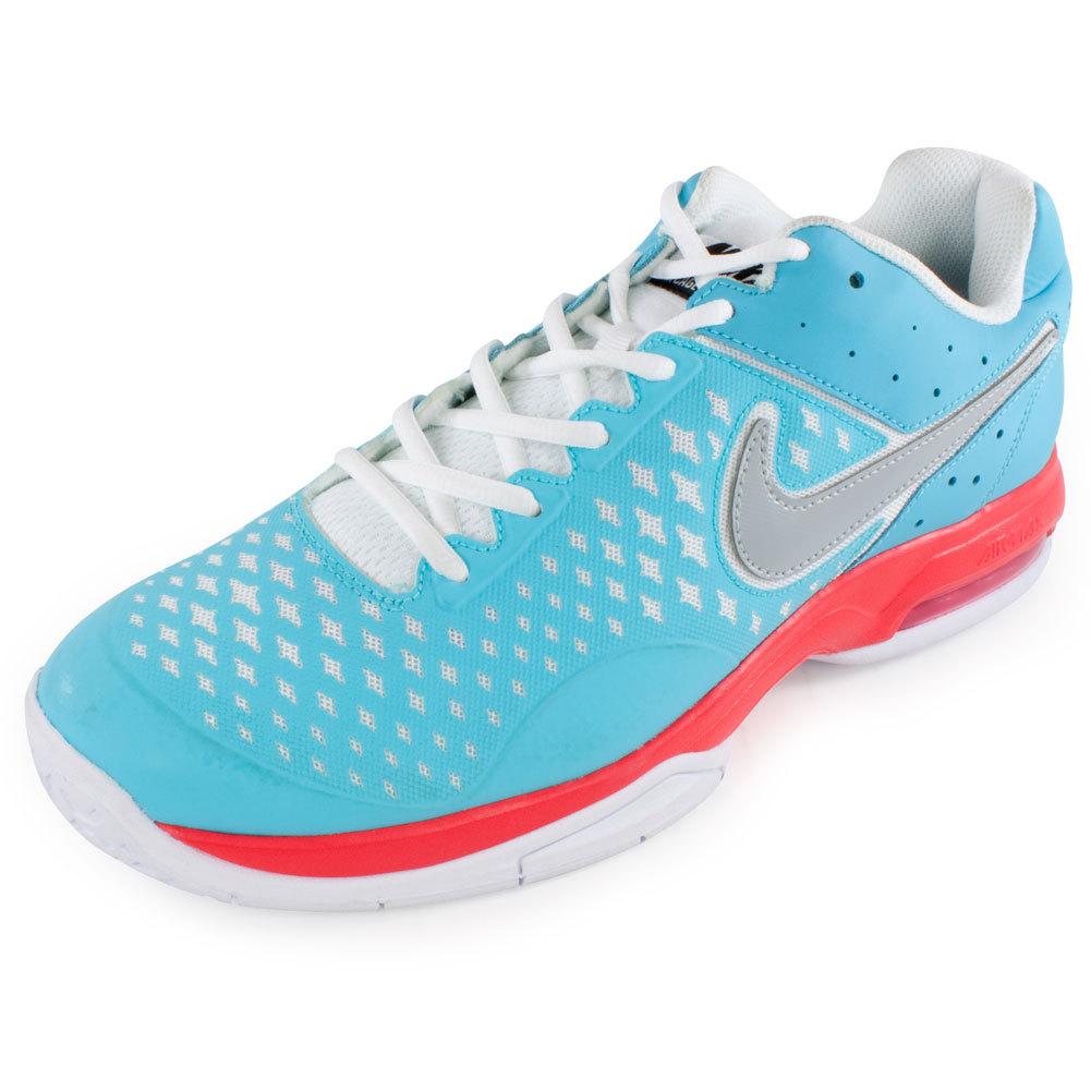 Men's Air Cage Advantage Tennis Shoes Polarized Blue And Laser Crimson