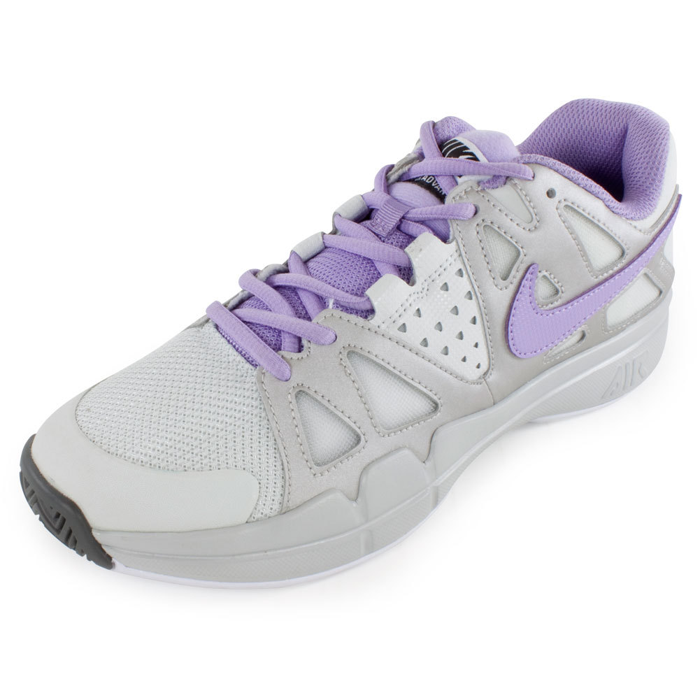 Women's Air Vapor Advantage Tennis Shoes Light Base Gray And Metallic Iron Ore