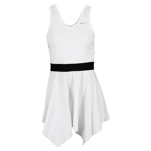 NIKE WOMENS NOVELTY KNIT TENNIS DRESS WHITE