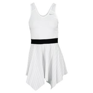 NIKE WOMENS NOVELTY KNIT TENNIS DRESS WHITE