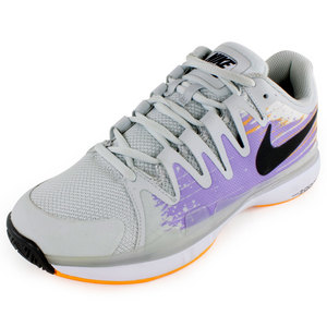 Women`s Zoom Vapor 9.5 Tour Tennis Shoes Light Base Gray and Urban Lilac