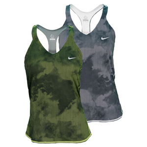 NIKE WOMENS ADVANTAGE PRINTED TENNIS TANK