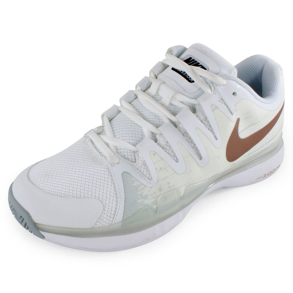 Women's Zoom Vapor 9.5 Tour Tennis Shoes White And Pure Platinum