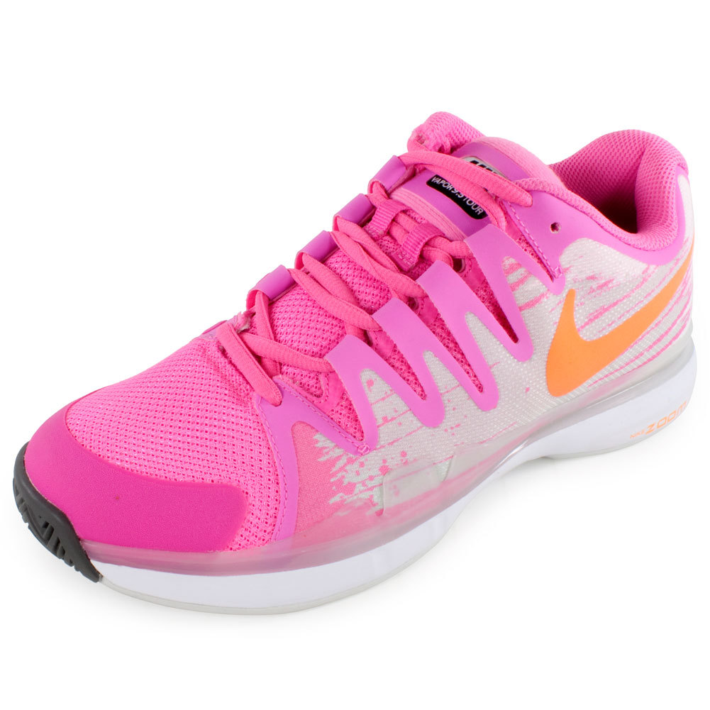 nike s zoom vapor 9 5 tour tennis shoes pink glow
