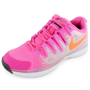 Women`s Zoom Vapor 9.5 Tour Tennis Shoes Pink Glow and Light Base Gray