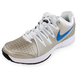 NIKE MENS VAPOR COURT TENNIS SHOES MET ZN/WH