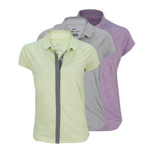 NIKE WOMENS DRI-FIT TOUCH SOLID TENNIS POLO