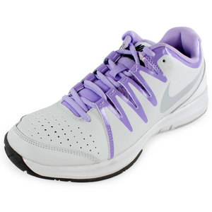NIKE WOMENS VAPOR COURT SHOES LT BS GY/UB LIL