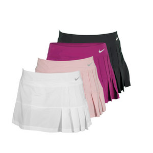 NIKE WOMENS PINTUCK PLEATED WVN TENNIS SKIRT