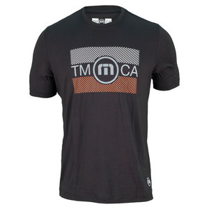 TRAVISMATHEW MENS SPITZ TENNIS CREW TEE BLACK