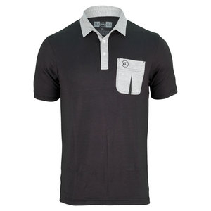 TRAVISMATHEW MENS NOTORIOUS TENNIS POLO BLACK