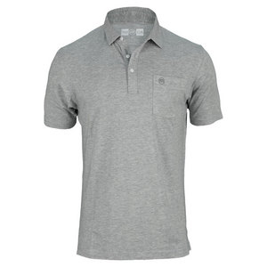 TRAVISMATHEW MENS SINGLES TENNIS POLO HEATHER GRAY