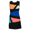 Women`s Mariposa Tennis Dress Black and Multi by ELIZA AUDLEY