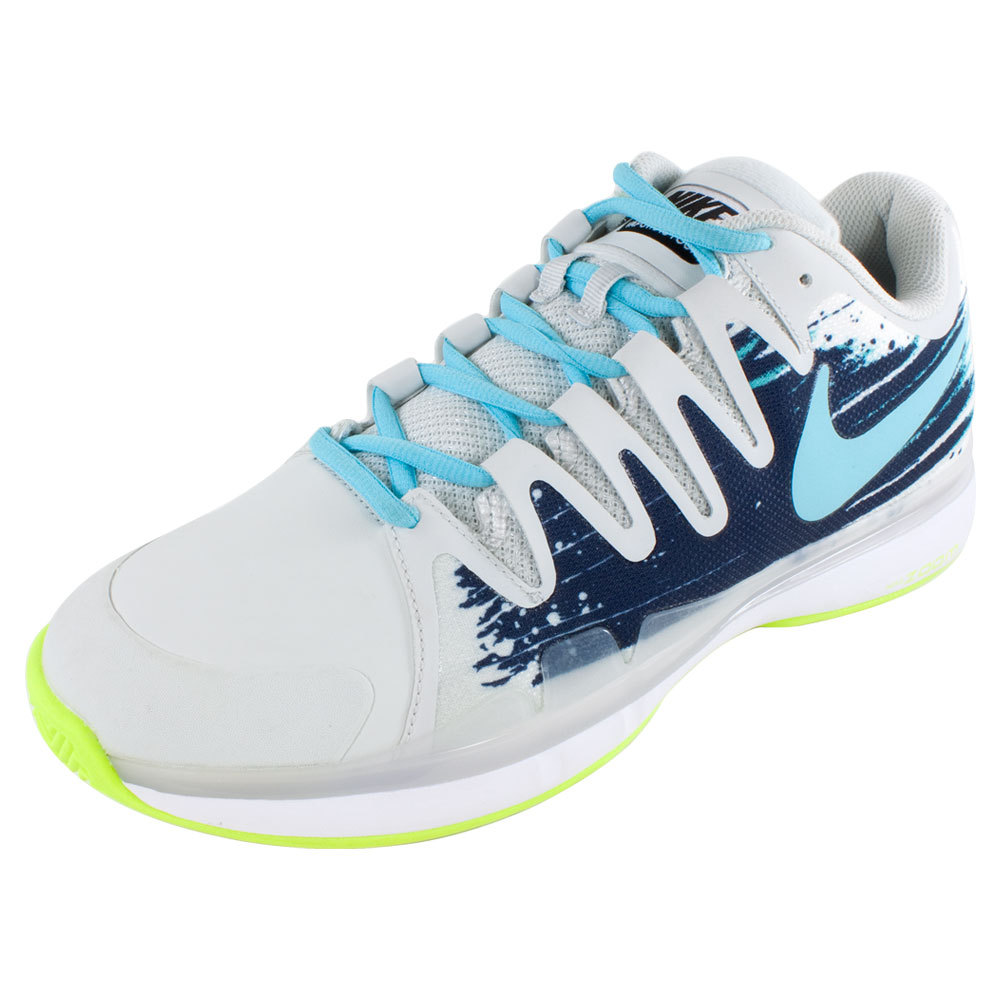 Men's Zoom Vapor 9.5 Tour Clay Tennis Shoes Light Base Gray And Midnight Navy