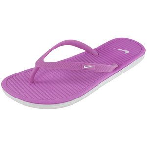 Women`s Solarsoft Thong II Red Violet and Light Base Gray