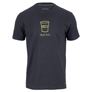 LIFE IS GOOD MENS HALF FULL TEE NIGHT BLACK