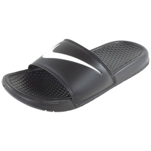 NIKE WOMENS BENASSI SWOOSH SLIDE BLACK/WHITE