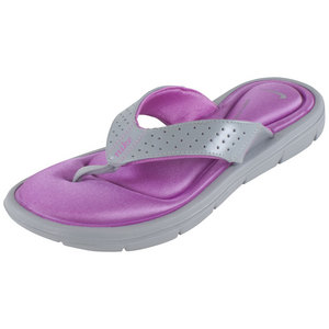 NIKE WOMENS COMFORT THONG WOLF GRAY/RD VIOLET